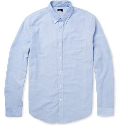 Button-Down Collar Cotton Oxford Shirt by J.Crew in McFarland, USA