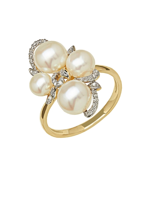 Freshwater Pearl And Diamond Ring by Lord & Taylor in Scream Queens - Season 1 Episode 1