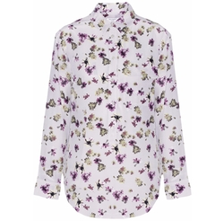 Garrett Floral-Print Washed-Silk Blouse by Equipment in Casual