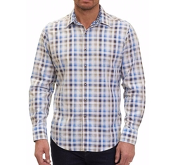 Dewan Classic Fit Check Sport Shirt by Robert Graham in Mr. Robot