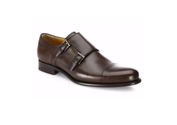 Leather Double Monk-Strap Loafers by A. Testoni  in Ballers