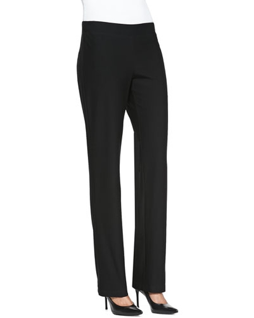 Washable-Crepe Boot-Cut Pants by Eileen Fisher in The Boy
