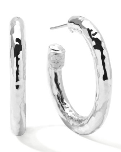 Glamazon Silver Hoop Earrings by Ippolita in Unfinished Business