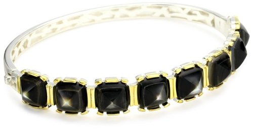 """Sugarloaf"" Black Mother-Of-Pearl Medium Bangle by Kara Ross in That Awkward Moment"