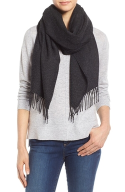 Cozy Fringe Hem Alpaca Scarf by Eileen Fisher  in The Blacklist