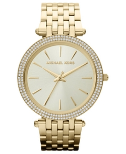 Women's Darci Gold-Tone Stainless Steel Bracelet Watch by Michael Kors in Animal Kingdom
