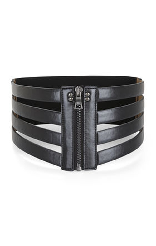 Cage Zip Waist Belt by BCBGMAXAZRIA in The Vampire Diaries - Season 7 Episode 5