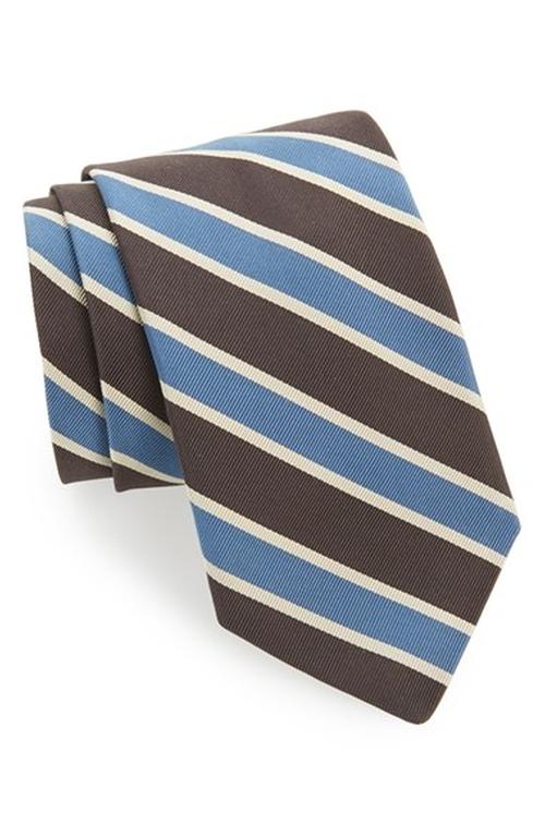 Silk & Cotton Tie by Todd Snyder White Label in Brooklyn Nine-Nine - Season 3 Episode 7