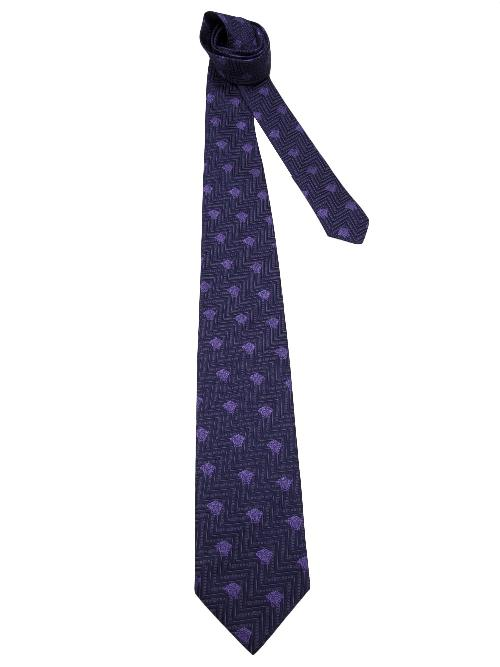 Medusa cubes jacquard tie by VERSACE in The Wolf of Wall Street