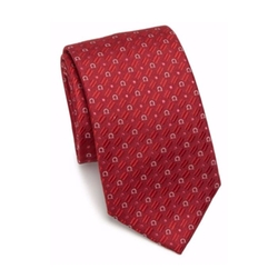Ovada Silk Tie by Salvatore Ferragamo in New Girl