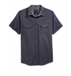 Men's Dobby Micro-Check Short-Sleeve Shirt by Guess in Furious 7