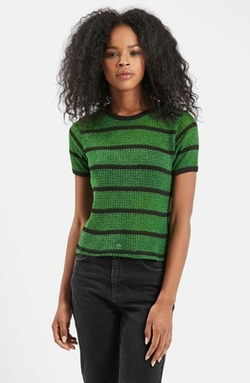 Striped Knit Tee by Topshop in Pretty Little Liars