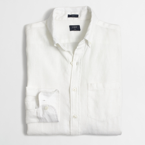 Slim Linen Shirt by J.Crew Factory in Me Before You