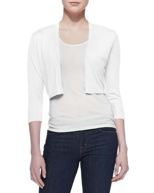 3/4-Sleeve Silk-Cashmere Shrug by Neiman Marcus Cashmere Collection in Keeping Up with the Joneses
