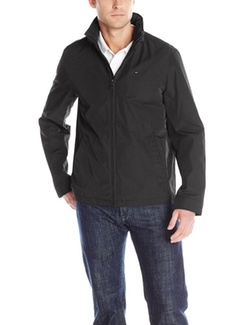 Stand Collar Zip Front Jacket by Tommy Hilfiger in The Blacklist