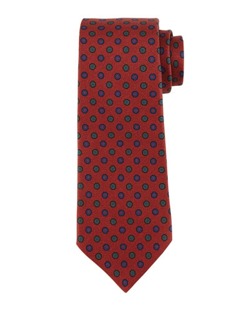 Micro-Flower Neat Silk Tie by Kiton	 in Demolition