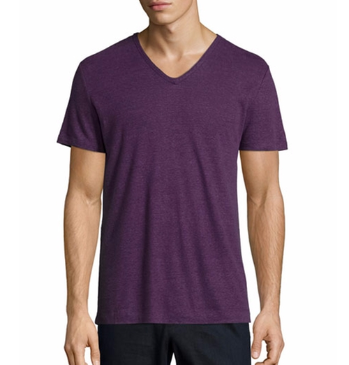Short-Sleeve V-Neck T-Shirt by Vince in Rosewood - Season 1 Episode 10