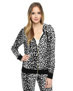 Leopard Relaxed Hoodie by Juicy Couture in Pitch Perfect 2