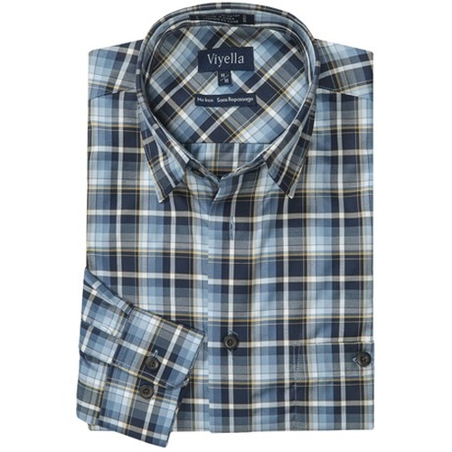 Cotton No-Iron Sport Shirt by Viyella in Christmas Vacation