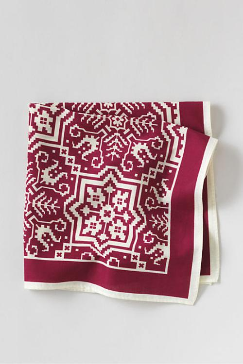 Men's Print Cotton Pocket Square by Lands' End in Lee Daniels' The Butler