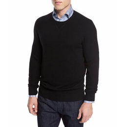 Mixed-Textured Crewneck Sweater by Neiman Marcus in Marvel's The Punisher