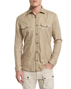 Sinclair Taped-Trim Sport Shirt by Belstaff in The Bachelorette