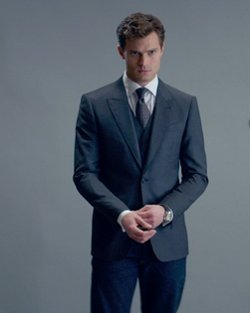 Custom Made Wool Vest by Mark Bridges (Costume Designer) in Fifty Shades of Grey