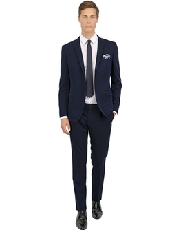 Stretch Wool & Cotton Blend Suit by Tonello in Survivor