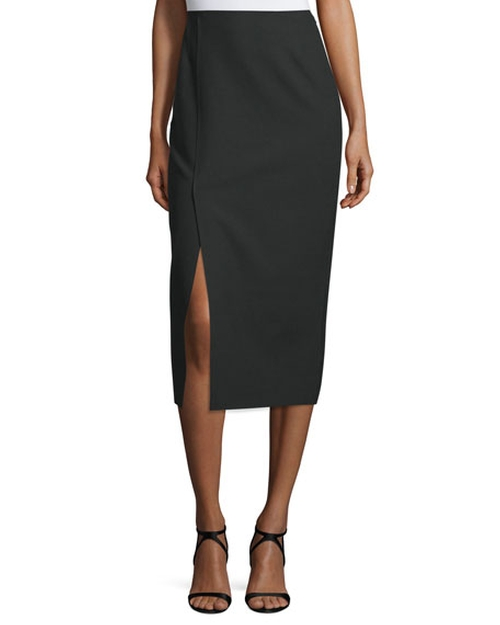 Theo Crepe Pencil Skirt by Elizabeth & James in Chelsea - Season 1 Episode 1