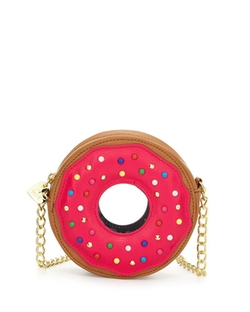 Donut Faux-Leather Crossbody Bag by Betsey Johnson in Fuller House