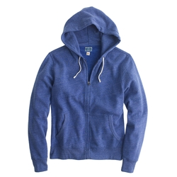 Brushed Zip Fleece Hoodie by J. Crew in The Choice
