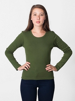 Long Sleeve Scoop Neck T Shirt by Baby Rib in Mean Girls