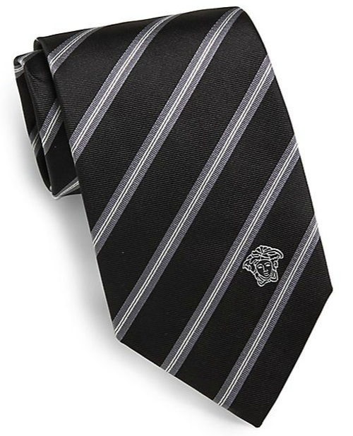 Diagonal Striped Silk Tie by Versace in Mission: Impossible - Ghost Protocol