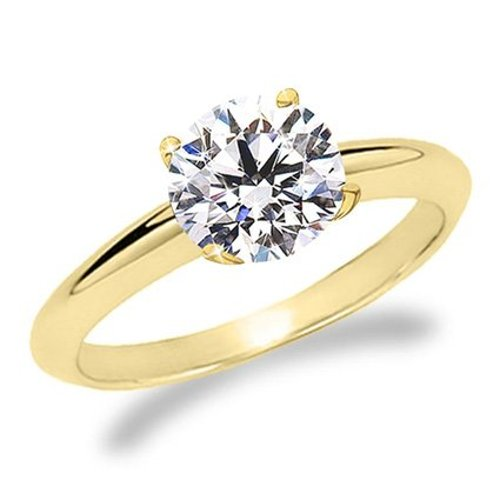 Diamond Solitaire Engagement Ring by Houston Diamond District in Couple's Retreat