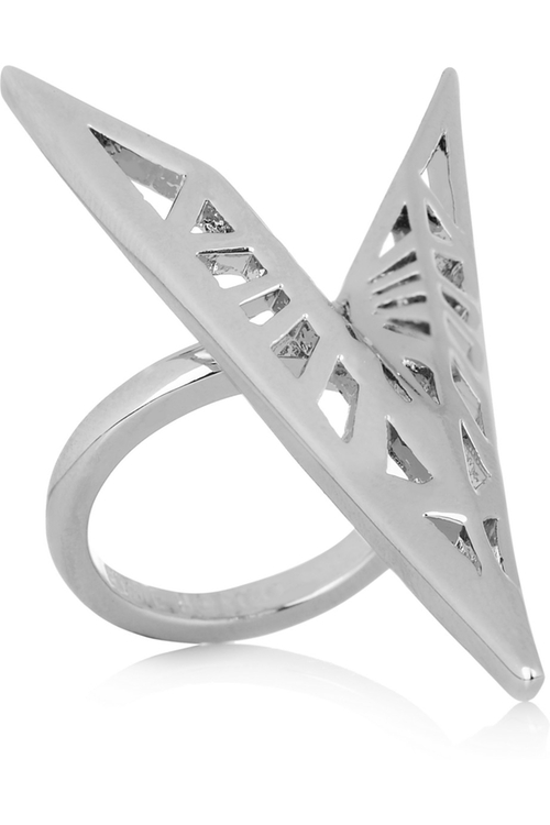 Fractured Heart Silver-Plated Ring by Eddie Borgo in Jem and the Holograms