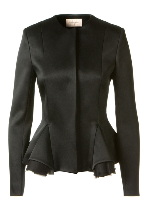 Satin Peplum Jacket by Christopher Kane in Suits - Season 5 Episode 3