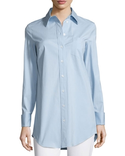 French-Cuff Patch-Pocket Blouse by Michael Kors Collection in Suits