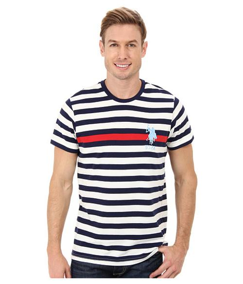 Engineered Stripe Crew Neck T-Shirt by U.S. POLO ASSN. in Horrible Bosses 2