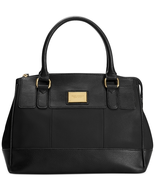 Social Status Leather Satchel Bag by Tignanello in By the Sea