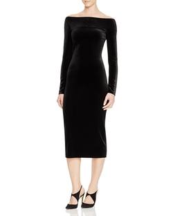 Vestini Off-The-Shoulder Dress by Armani Collezioni in American Horror Story