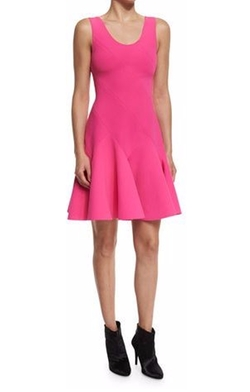 Sleeveless Fit-and-Flare Ponte Mini Dress by 10 Crosby Derek Lam in Scream Queens