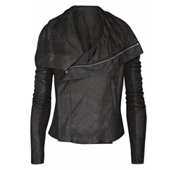 Suede Biker Jacket by Rick Owens in The Fate of the Furious