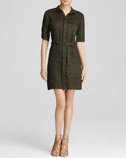 Solange Belted Shirt Dress by Kut from the Kloth in Atonement