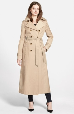 Hooded Double Breasted Maxi Trench Coat by DKNY in How To Get Away With Murder
