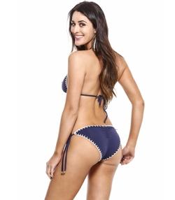 Crochet Stitching Brazilian Cut Bikini Bottom by Guria Beachwear in The Bachelorette
