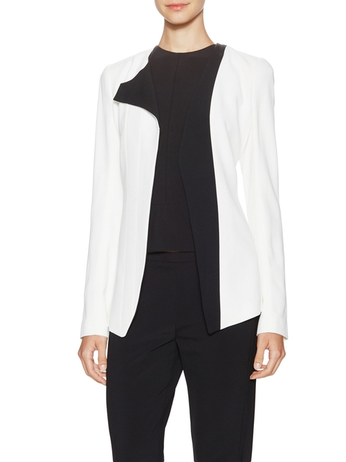 Crepe One Sided Lapel Jacket by Narciso Rodriguez in The Good Wife - Season 7 Episode 5