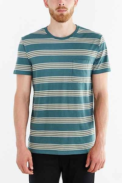 Rowen Stripe Standard-Fit T-Shirt by BDG in Quantico