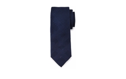 Textured Tonal-Check Knit Silk Tie by Burberry in Ballers