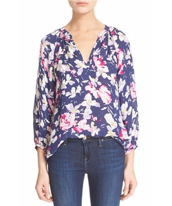 'McKenna' Floral Print Silk Blouse by Joie in The Big Bang Theory