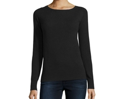 Long-Sleeve Crewneck Cashmere Sweater by Neiman Marcus Cashmere Collection in Quantico